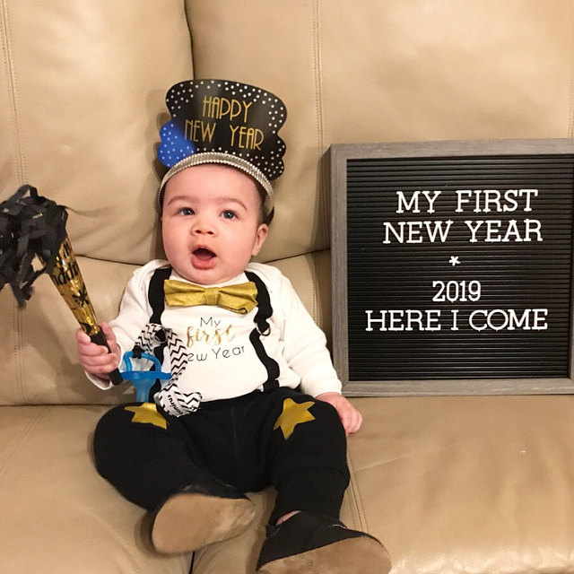 Personalized My 1st New Year S Baby Boy Outfit 2020 Baby Tuxedo Bodysuit Black Bow Tie Gold Bowtie And Suspenders Infant Boy Newborn Boy Baby Boy Outfits Boy Outfits Baby Tuxedo