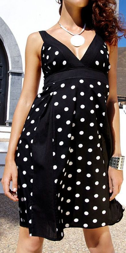 Adorable Black Polka Dot Dress