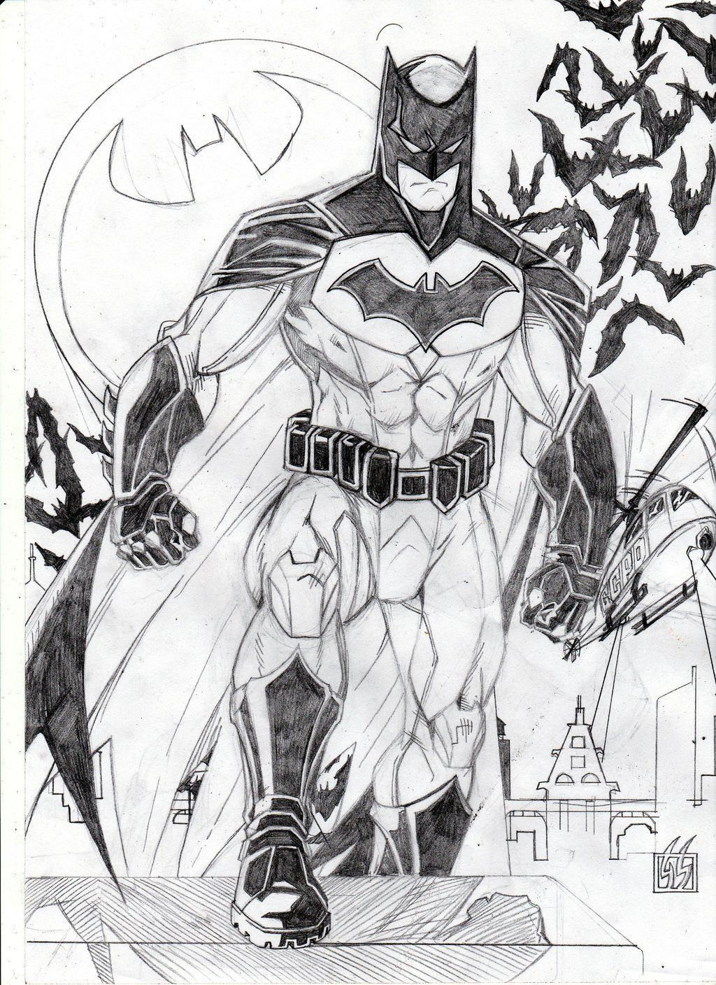 Batman Dc Rebirth Pencil By Gabred Hat Deviantart Com On