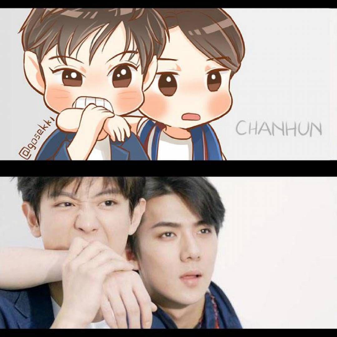 Google themes exo chibi - Chanhun Ceci Fanart Exo Chibiexo