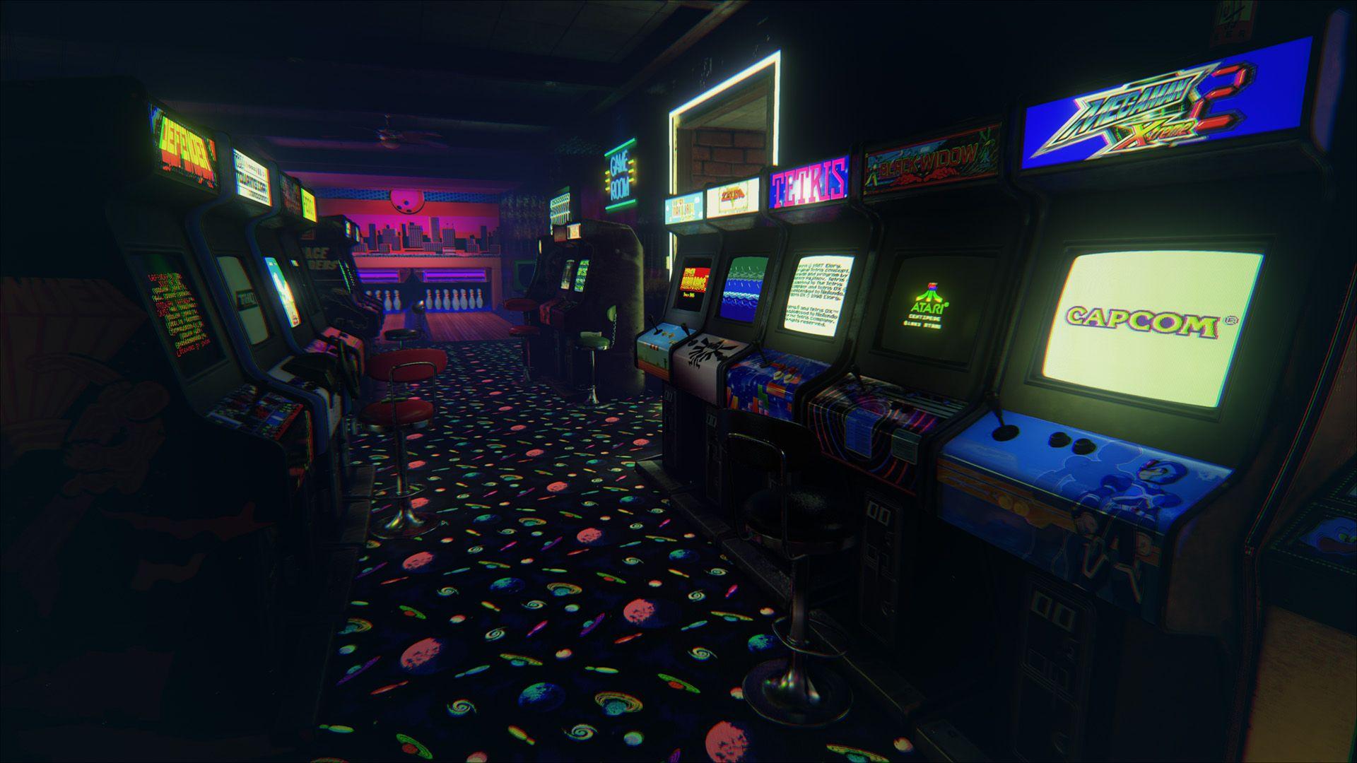 Retro Arcarde Created In Oculusrift Arcade Retro Arcade Arcade Room
