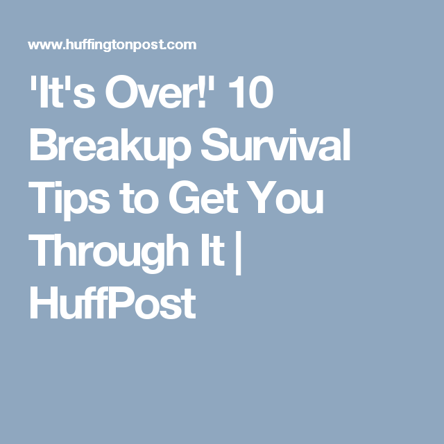 How to recover from a long term relationship break up