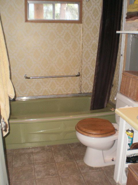 remodeling mobile home walls and shower were installed heres the bathroom - Mobile Bathroom