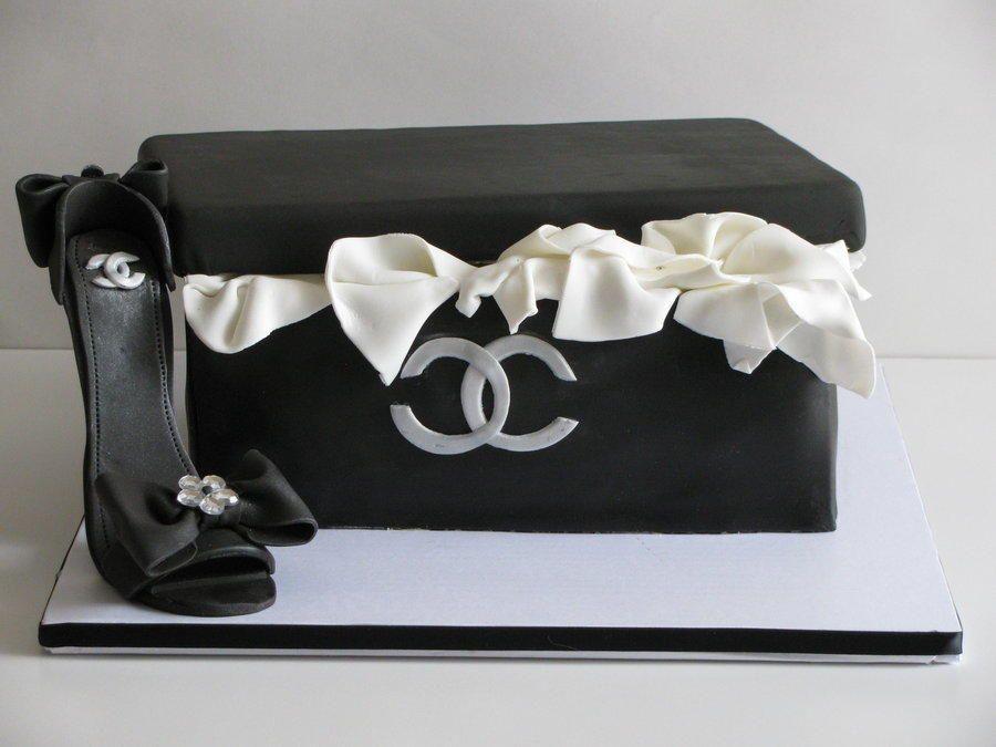 fa79d36f337b My Coco Chanel shoe box cake! - Cake by Sandra Caputo | BLK SHOE ...
