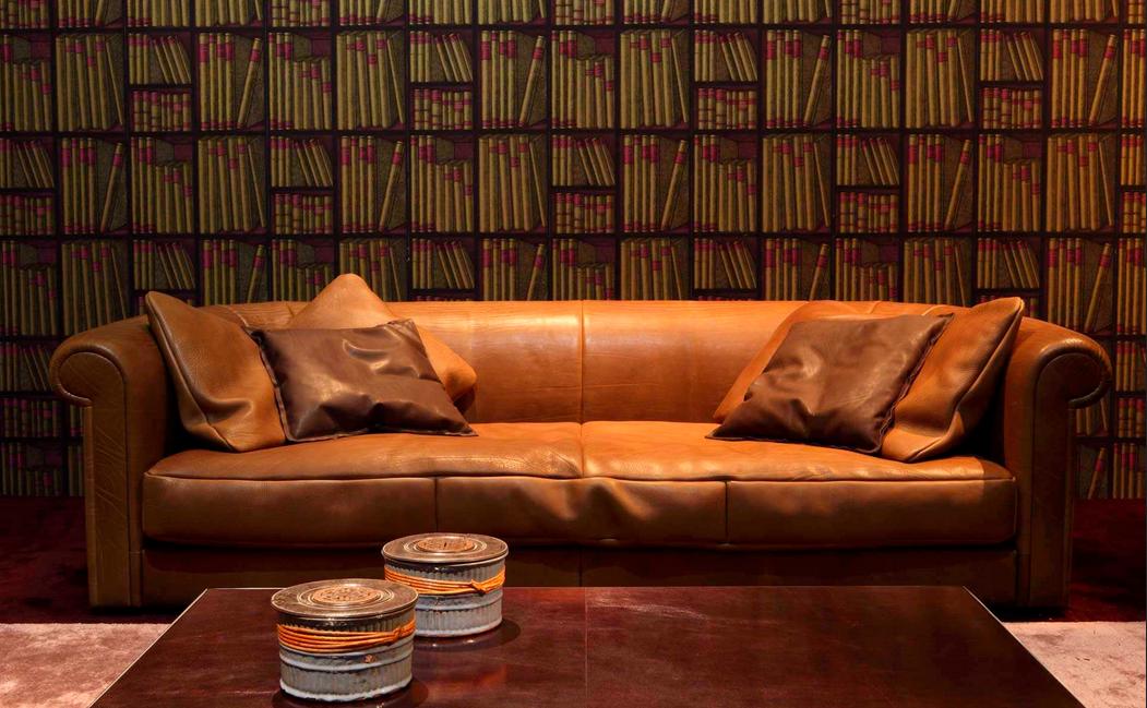 Englische Sofas Klassische Farbe Braun Sofa Leder Tisch