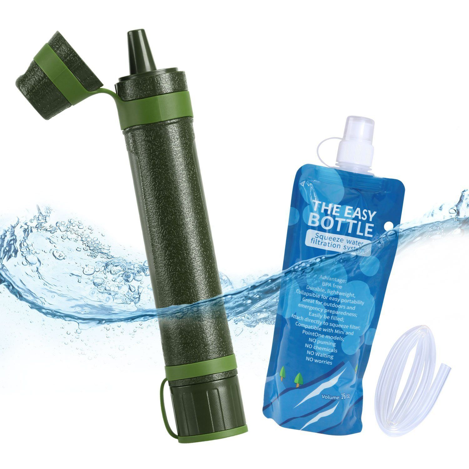 Amazon Com Axmda Personal Water Filter Straw Emergency Water Purifier Camping With 3 Stage Filtrati Emergency Preparedness Kit Water Purifier Emergency Water