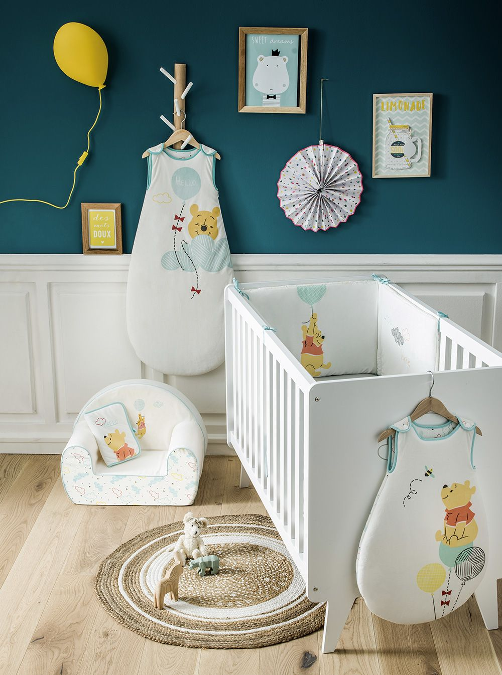 Decoration Chambre Bebe Garcon Ou Fille Winnie The Pooth Hello My