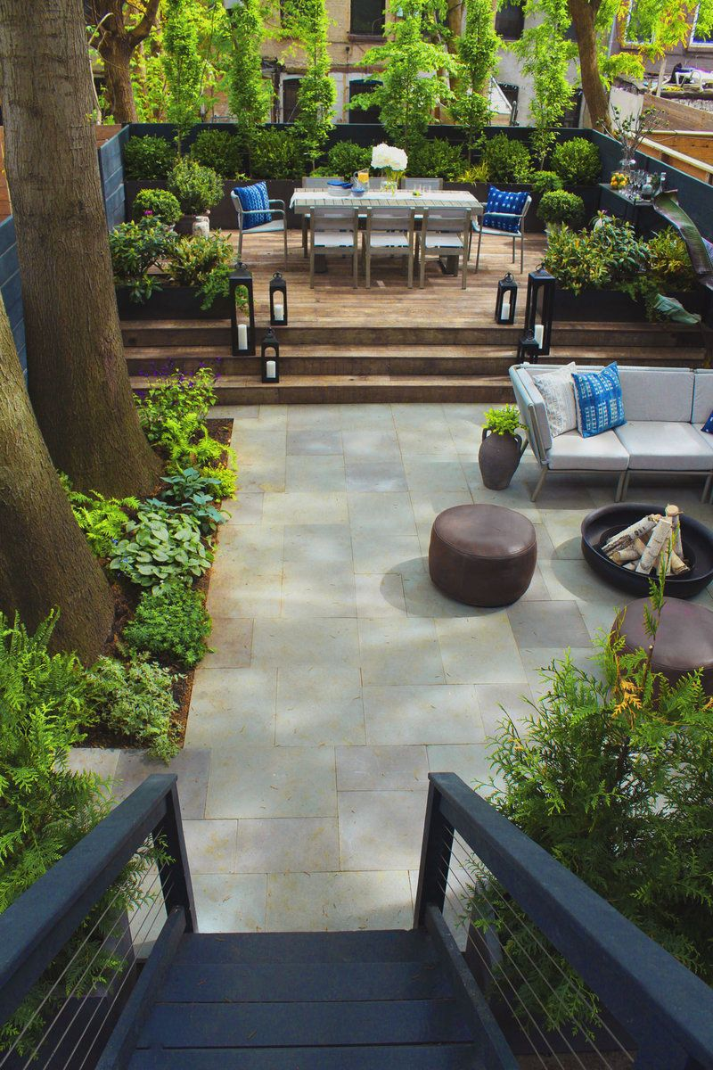 Before And After From Concrete Slabs To Lush Entertaining Spaces