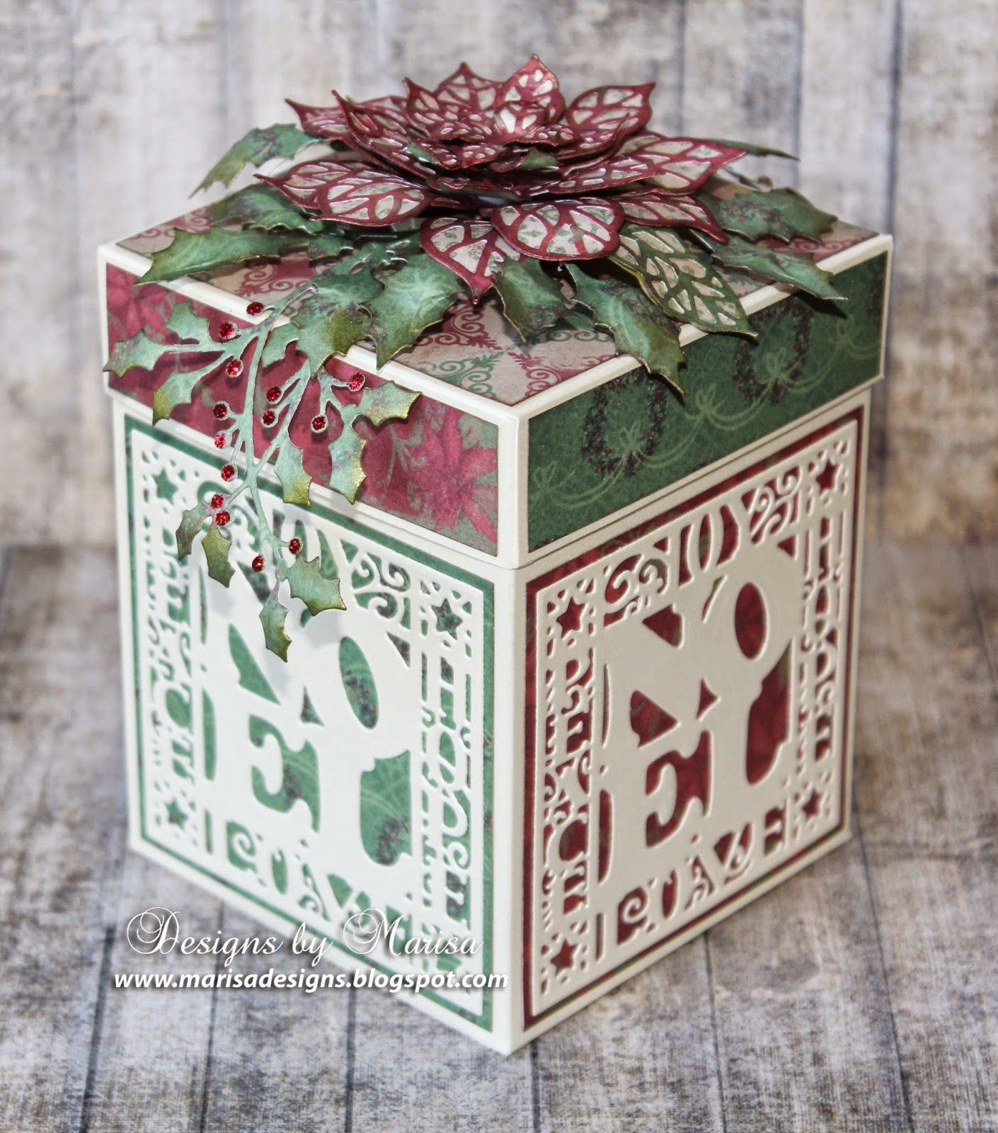 hello friends today i have a christmas gift box to show you created with the beautiful creative