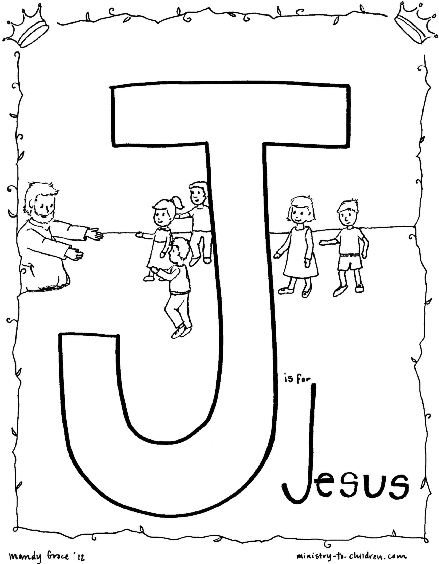 Bible Alphabet coloring Pages http//ministrytochildren