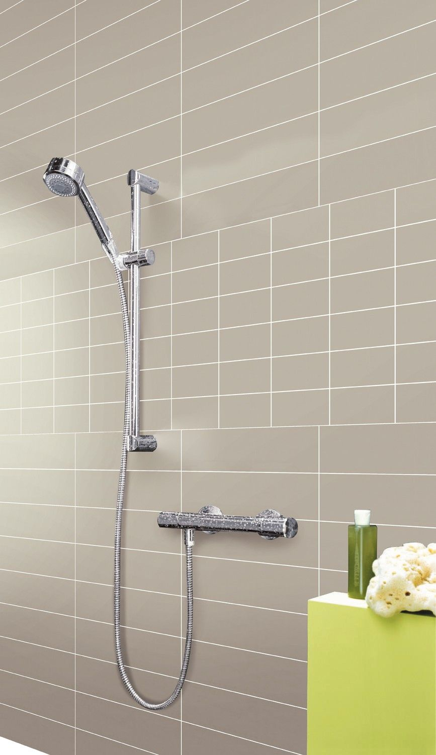 Long tiles in the shower - Zen Pearl | Tile | Pinterest | Wall ...