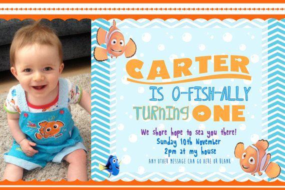 Finding Nemo Birthday Custom Invitation By Summerr On Etsy