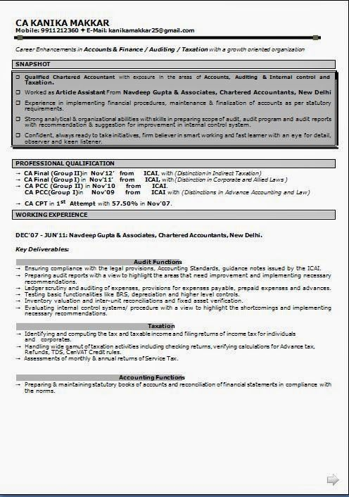 a good resume sample Sample Template Example ofExcellent - example of a good resume
