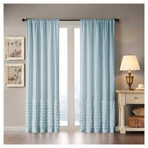 Laurie Cotton Horizontal Ruffle Curtain Panel : Target