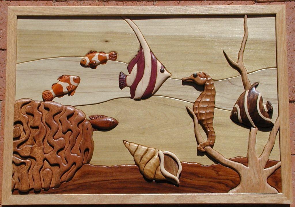 Island Cove Intarsia Pattern | Intarsia Woodworking - Ideas, Plans ... | marquetry/intarsia ...
