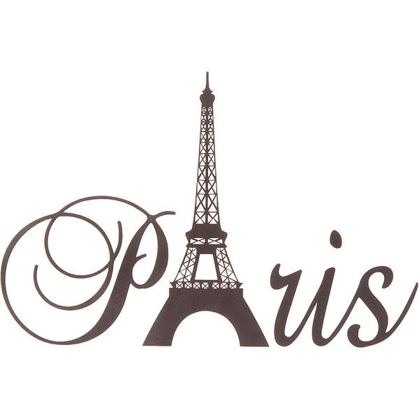 Black Paris Laptop Decal ($6.50) ❤ Liked On Polyvore Featuring Home, Home  Decor