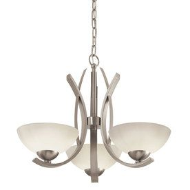 Lebach 3 Light Brushed Nickel Chandelier From Lowe S Brushed