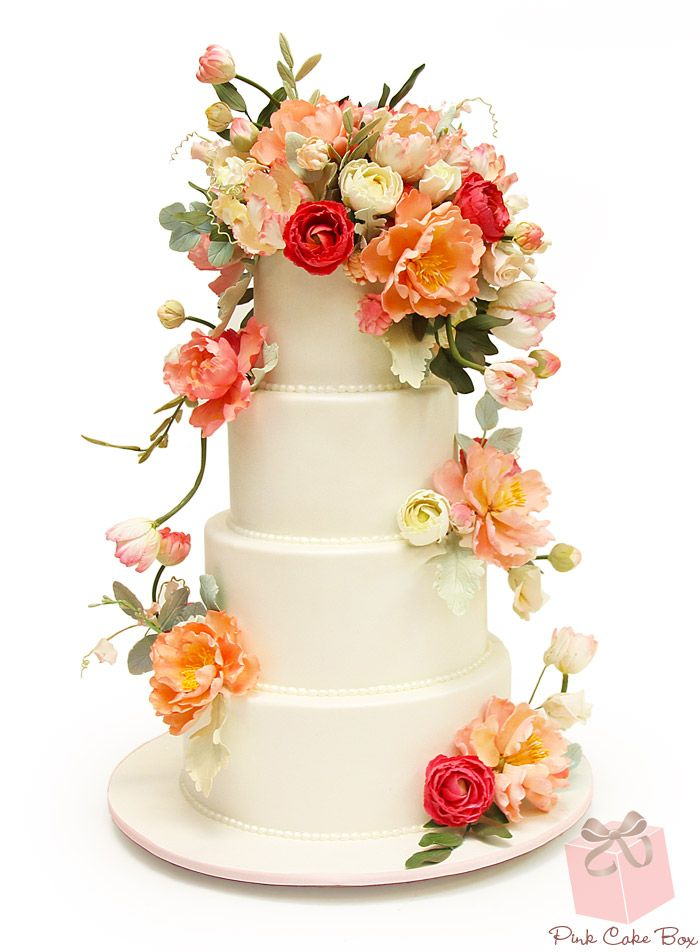 Spring Themed Wedding Cakes Pink Cake Box Custom Cakes More A