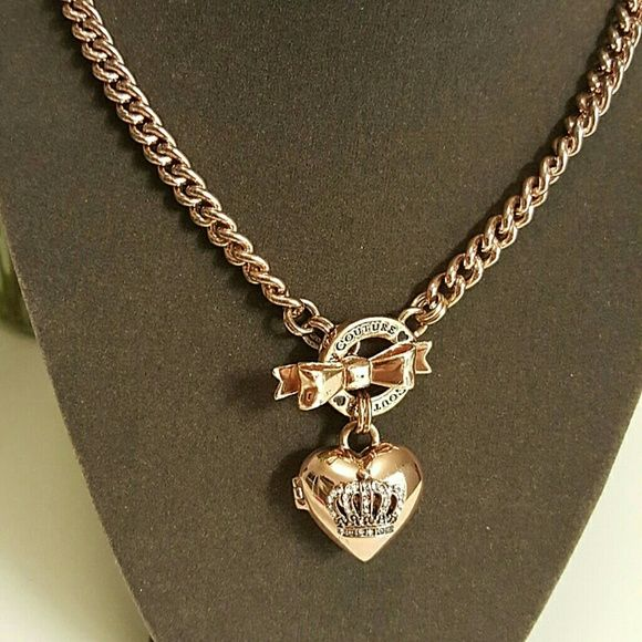 Rose gold tone toggle heart necklace juicy couture Juicy couture