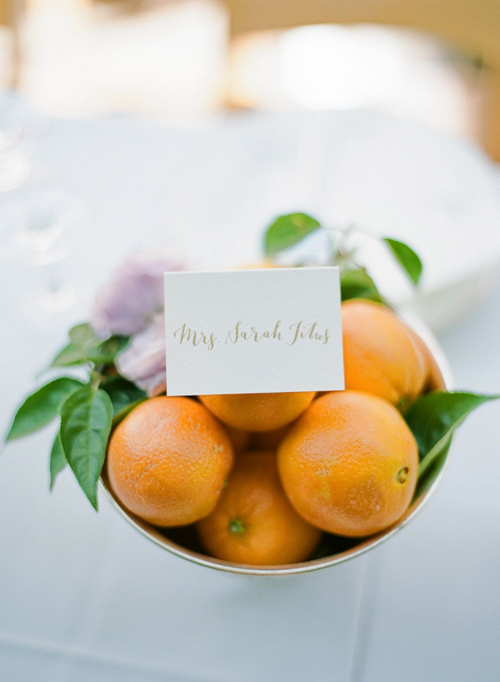 Centerpiece of Oranges | photography by http://ryanflynnphotography.net/