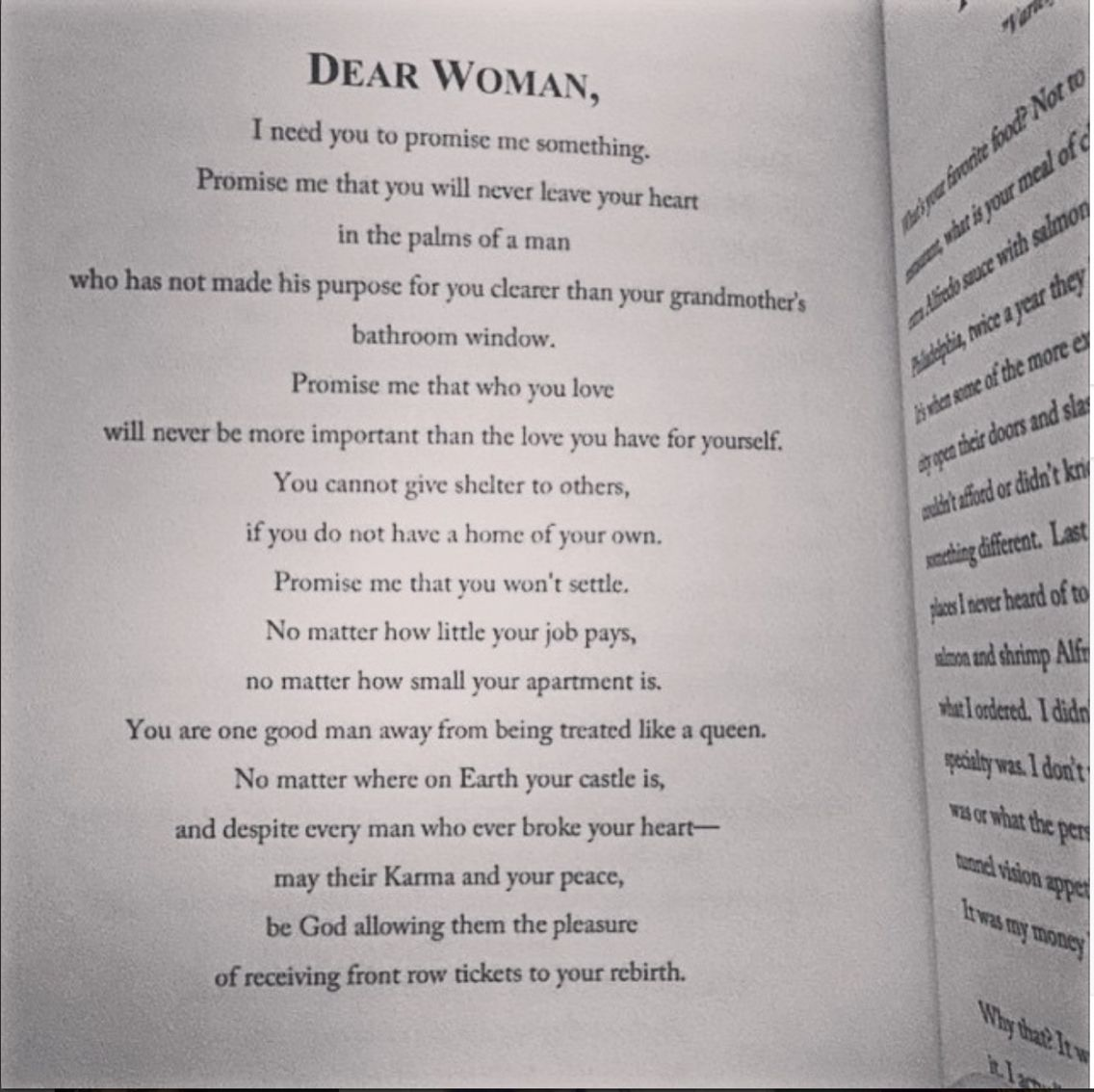 Dear woman quote | Wise quotes, Woman quotes, Book quotes