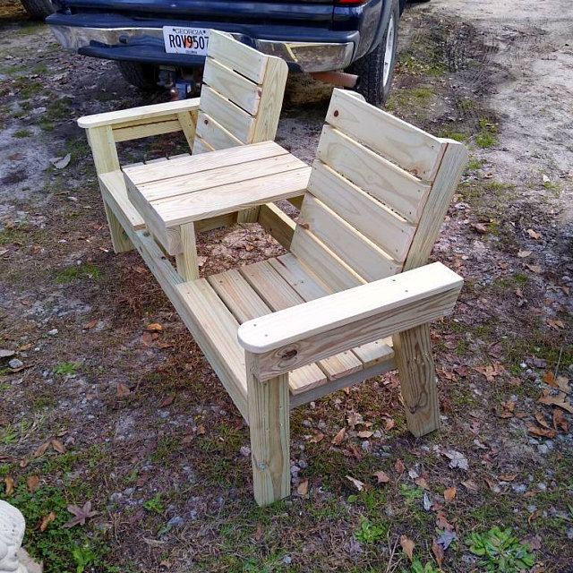 Wishing Well Outdoor Furniture DIY 2x4 lumber Patio Furniture | Etsy