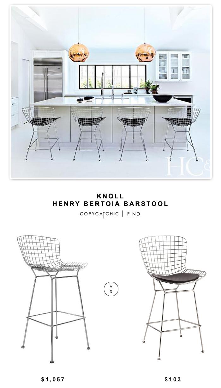 Enjoyable Knoll Henry Bertoia Barstool Copy Cat Chic Kitchen Beatyapartments Chair Design Images Beatyapartmentscom