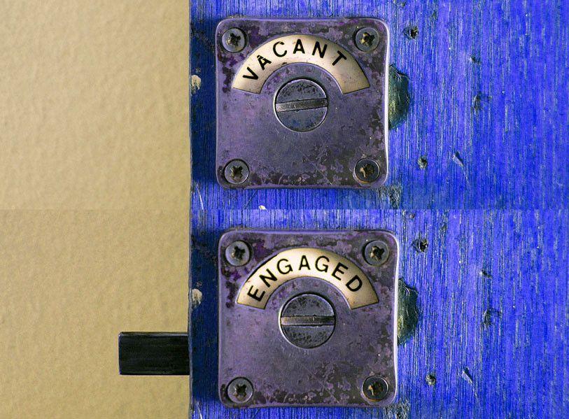 Bathroom Door Lock with Occupancy Indicator Bathroom Stall