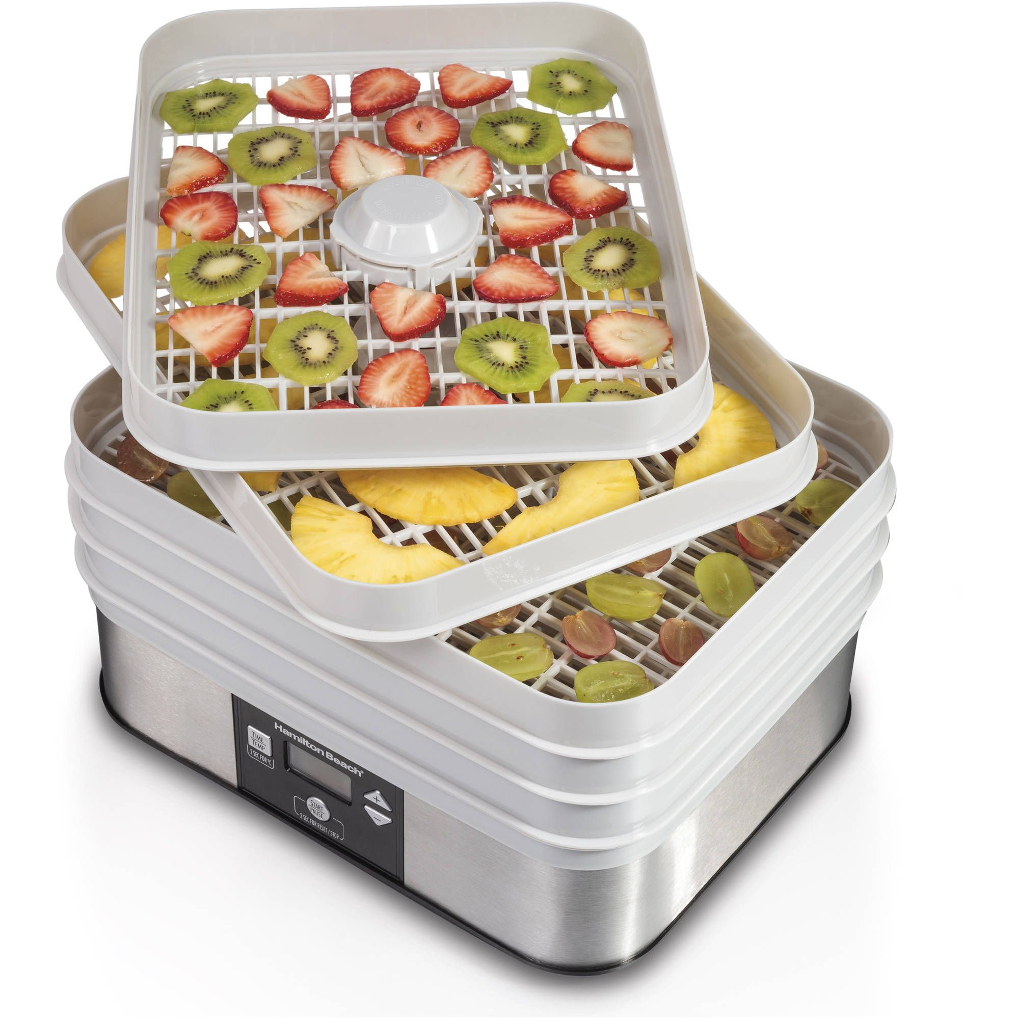 NutriChef PKFD32 Countertop Digital Food Dehydrator Multi-Tier Stackable Trays