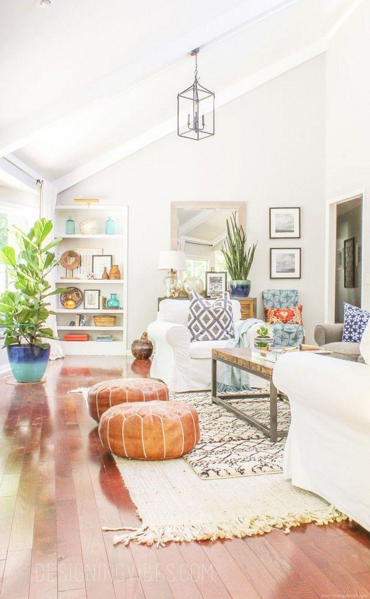 Modern Rustic Bohemian Living Room Design Ideas 47 Aladdinslamp