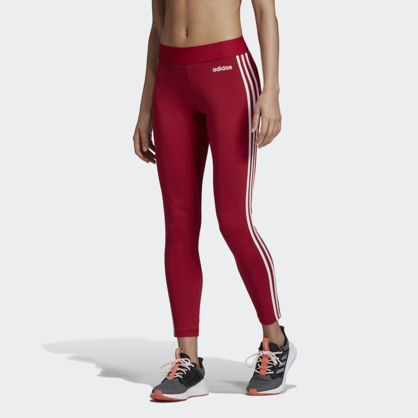 Adidas, Essentials 3 stripes Tights MaroonWhite | Bottoms