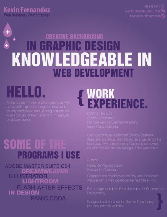 50 Creative Resume Ideas to Present Yourself Graphic design resume