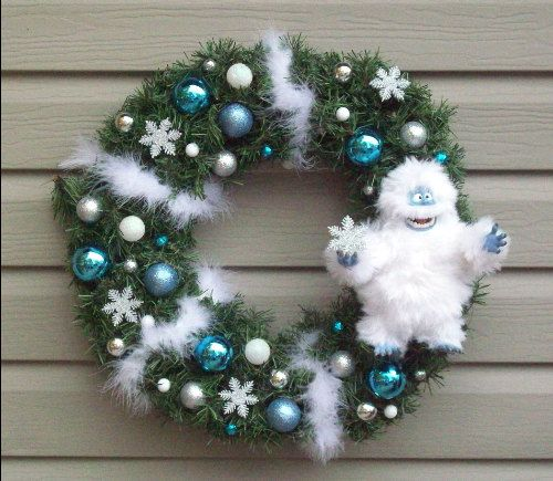 ABOMINABLE snowman wreath, for a boy-Christmas Wicked Witch