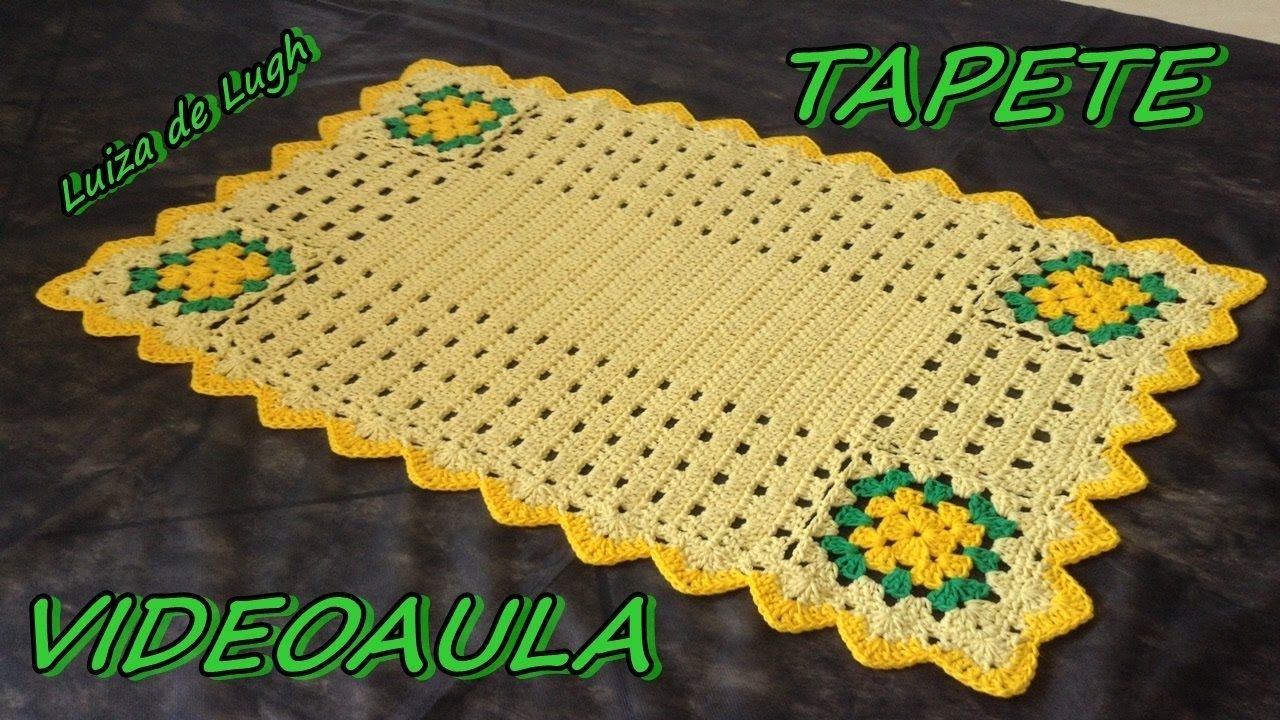 TAPETE NICE # LUIZA DE LUGH | Tapetes, Tapete de crochê, Tapete de ...