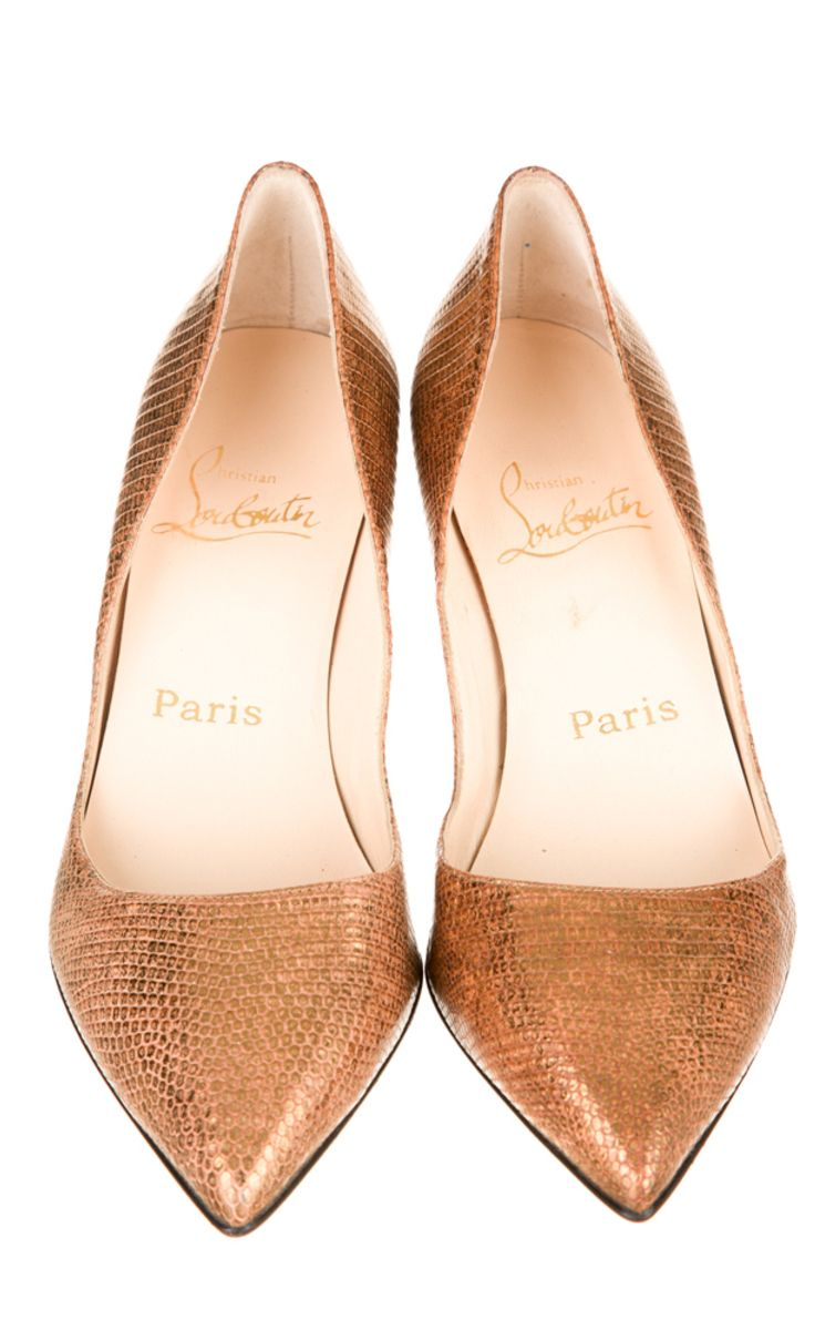 Gold Flats by Christian Louboutin