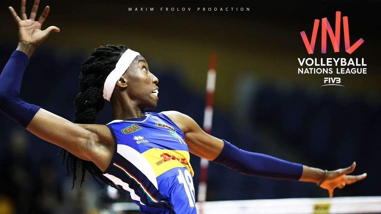 39 Points Paola Egonu Vs China Women S Vnl 2019 Female Volleyball Players Italian League Volleyball Players