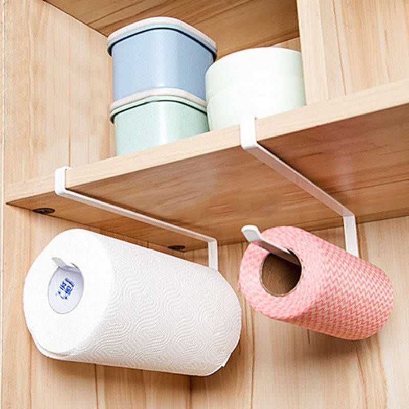 New Stainless Steel Tissue Paper Roll Holder Towel Holder Over Cabinet Hanger With Images Kitchen Organizer Rack Hanging Shelf Organizer Paper Towel Holder