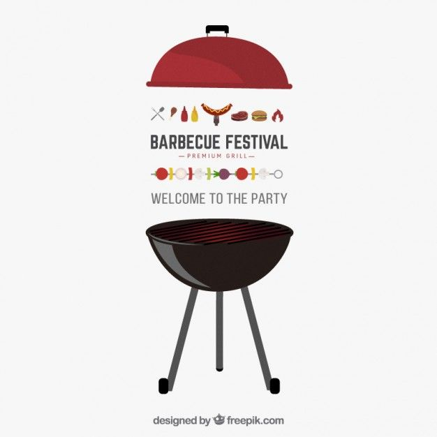 barbecue party vector invitation free vector | free flyer, Einladung