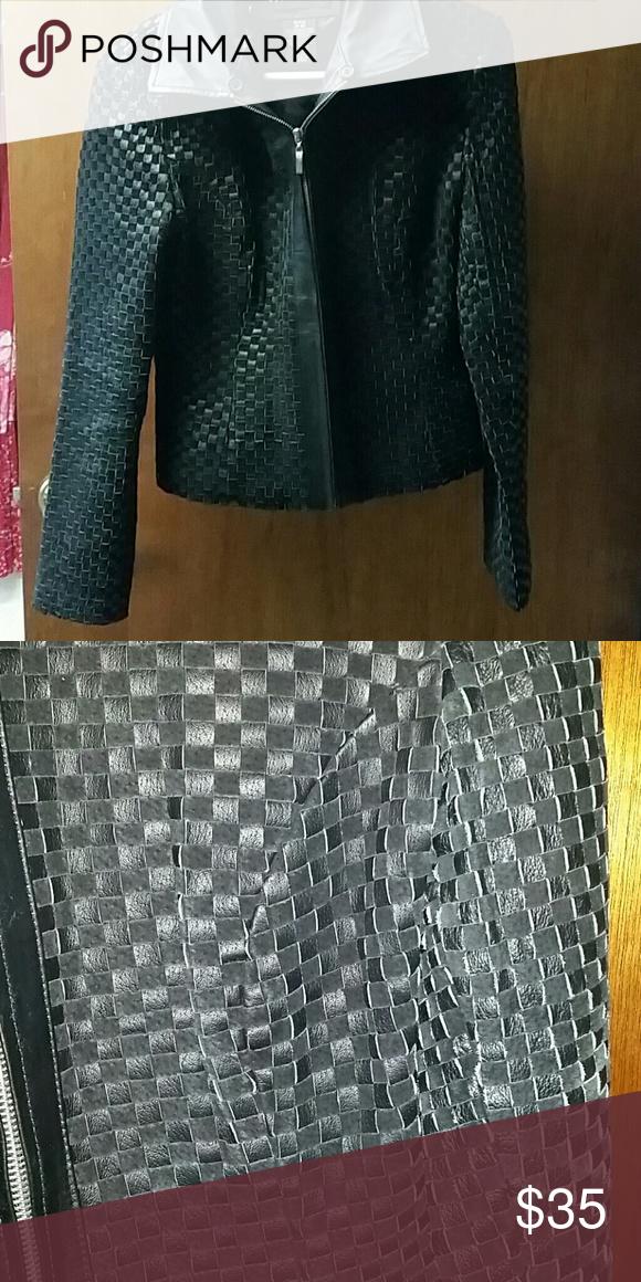 Leather Apostrophe jacket Small Apostrophe genuinely leather jacket. Small (4-6) Apostrophe Jackets & Coats