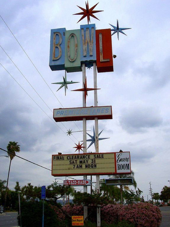 Old School Whittier California Bowling Bowling Alley Googie Architecture