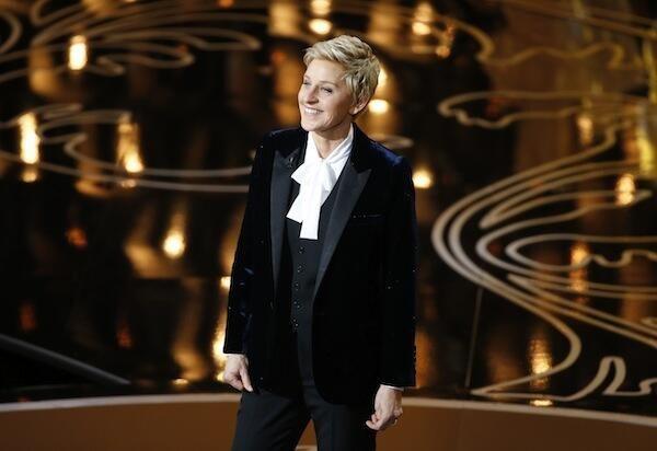 Ellen DeGeneres during opening monologue as Oscars 2014 host.