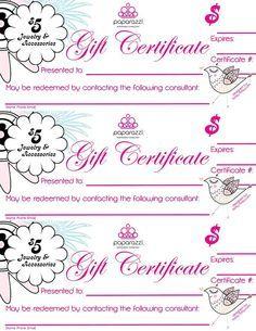 Gift Certificate Http Www Dreasjewelry Com Paparazzi Jewelry Paparazzi Gifts Paparazzi Accessories