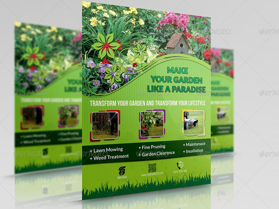01 garden services flyer 900 675 flyers for Garden maintenance flyer template