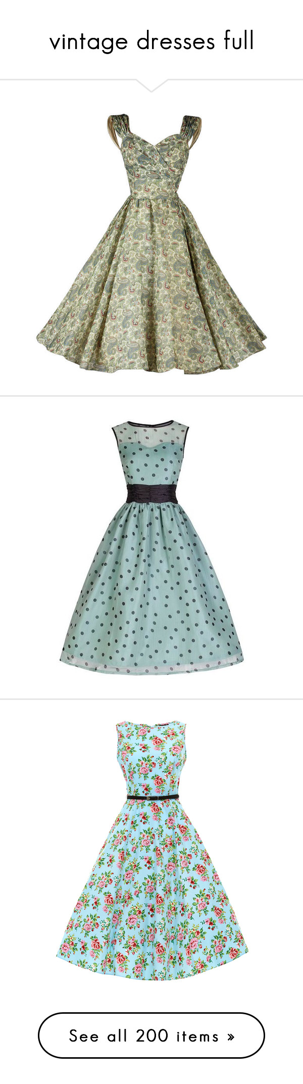 """""""vintage dresses full"""" by yellow-rose-1 ❤ liked on Polyvore"""