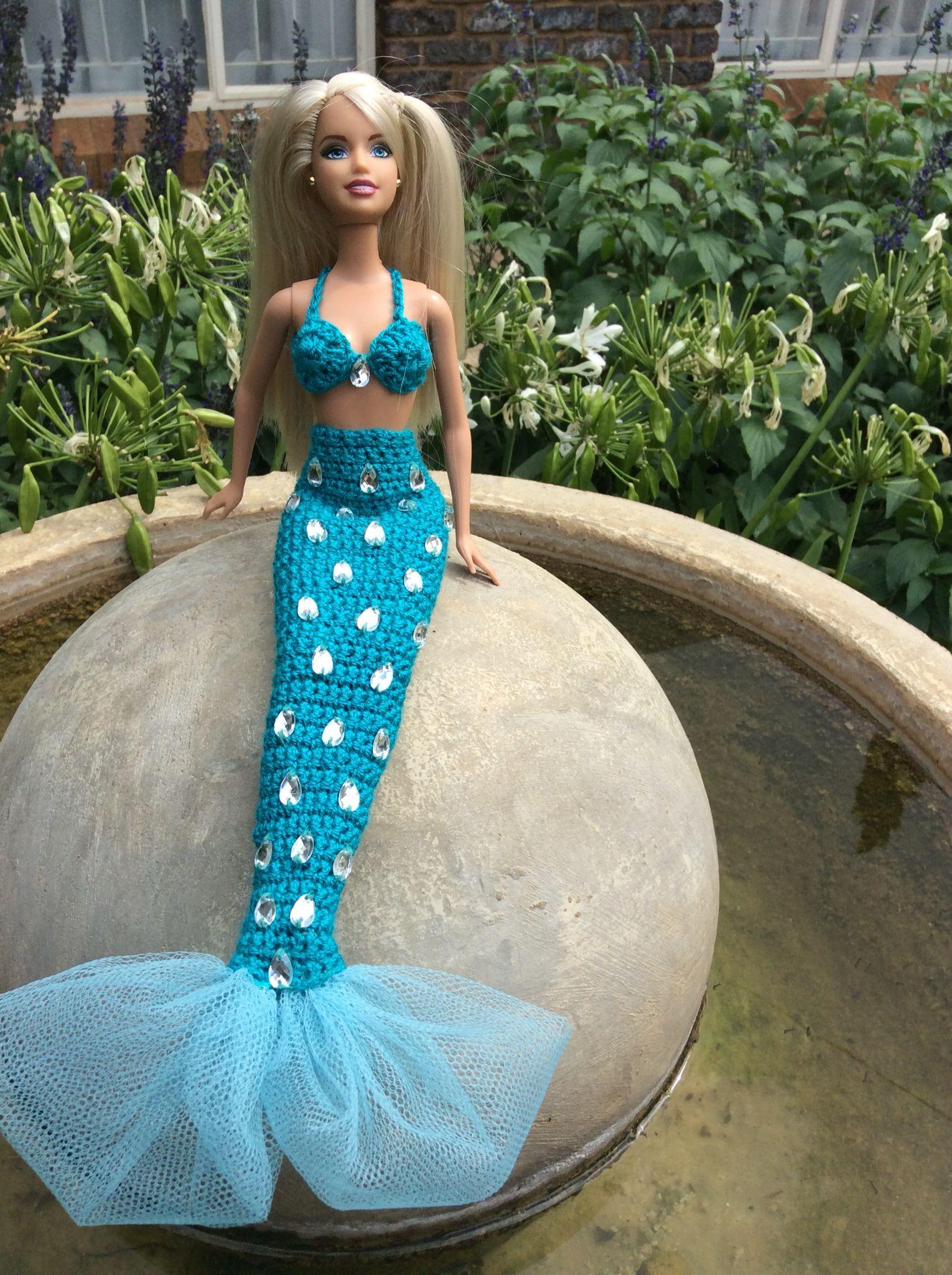 Crochet mermaid Barbie | mini crochet | Pinterest | Barbie sirena ...