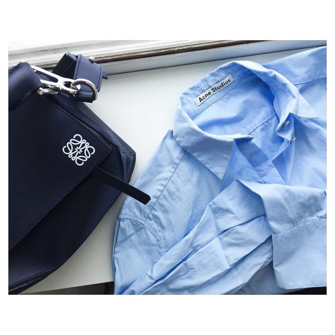 """Johanna Ankelhed på Instagram: """"Blue on blue..  simplicity at its best @acnestudios #Loewe"""""""