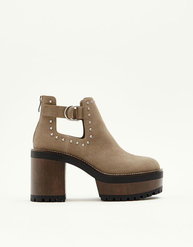 15bdda33f2f Botín plataforma - Pull and Bear | shoes <3 en 2019 | Botines de ...