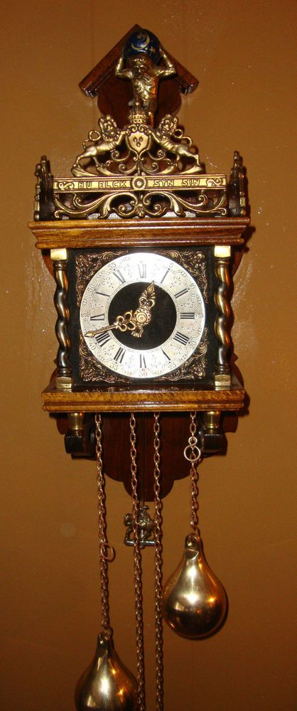 Antique Vintage Zaanse Dutch Wall Clock Zaandam Atlas 8