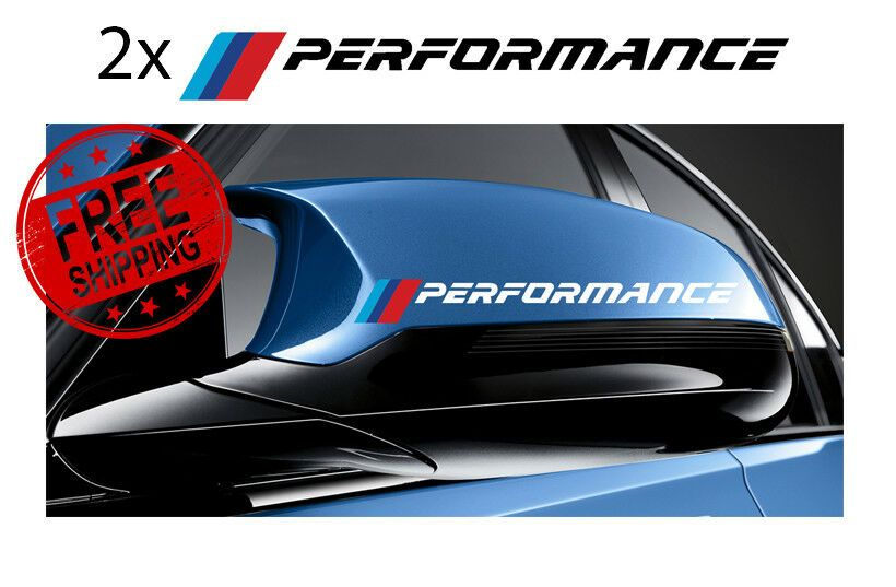 for BMW wing mirror vinyl decals 2 x M Performance graphic