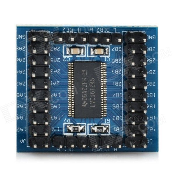 74LVC16T245 16-CH TTL CMOS Level Conversion Module. Color Blue Model N/A Quantity 1 Set Material FR4 English Ma